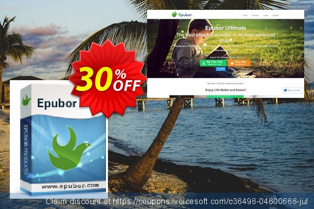 Epubor for Windows Lifetime discount 30% OFF, 2021 Working Day offer. Epubor Pro for Win imposing promo code 2021