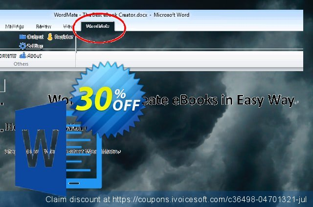Epubor WordMate Enterprise License discount 30% OFF, 2021 Mother's Day offering discount.