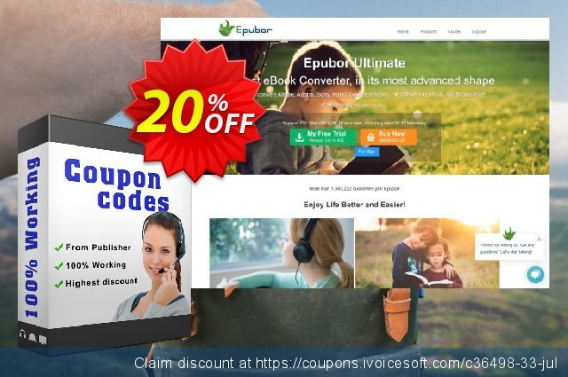 Epubor Audible Converter for Mac Lifetime discount 20% OFF, 2020 Back to School Promos offering sales
