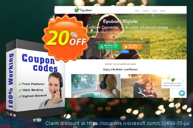 Epubor Audible Converter for Mac Family License discount 20% OFF, 2020 Spring offering sales