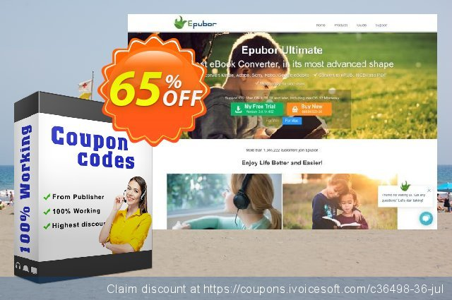 Epubor eBook Converter for Windows 1 Year discount 65% OFF, 2020 Working Day offering sales
