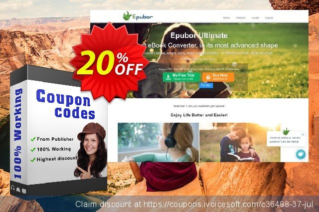 Epubor eBook Converter for Mac 1 Year discount 20% OFF, 2020 Labour Day offering sales