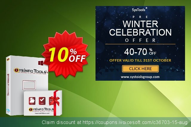 SysInfoTools OpenOffice Calc Repair discount 10% OFF, 2020 Back to School offer offering sales