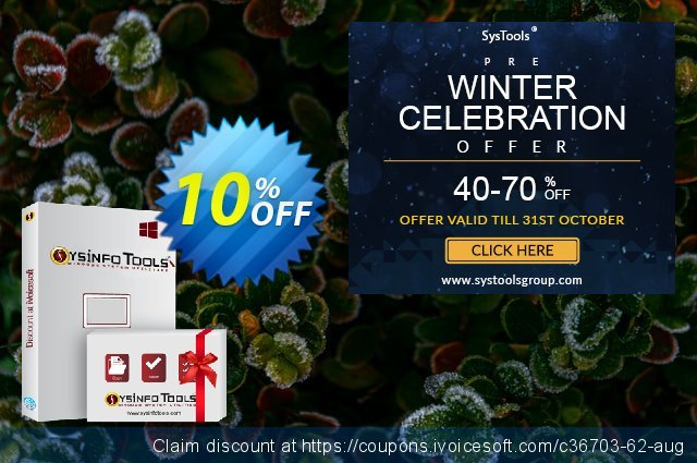 SysInfoTools EDB to NSF Converter discount 10% OFF, 2021 Happy New Year discounts