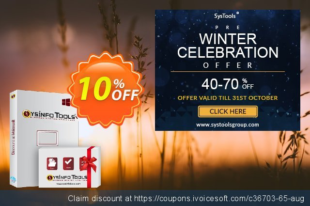 SysInfoTools MSG to EML Converter discount 10% OFF, 2021 New Year's Weekend deals