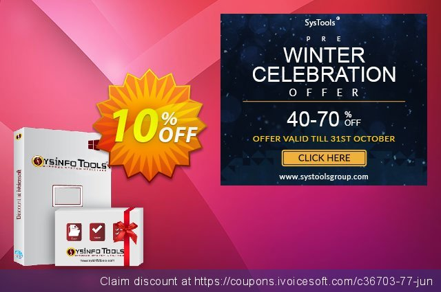SysInfoTools SharePoint Server Recovery discount 10% OFF, 2020 Christmas offering sales