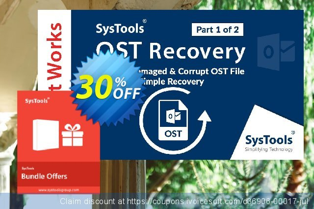 Bundle Offer: Systools OST Recovery + Outlook Recovery (Enterprise License) discount 30% OFF, 2020 Thanksgiving offering sales