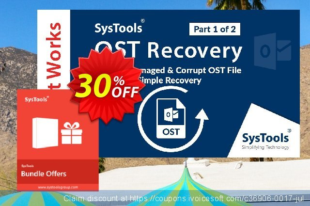 Bundle Offer: Systools OST Recovery + Outlook Recovery  (Technician License) 神奇的 产品销售 软件截图