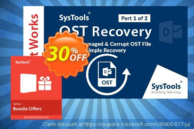 Bundle Offer: Systools OST Recovery + Outlook Recovery  (Corporate License) 대단하다  세일  스크린 샷