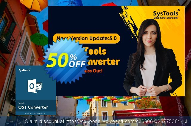 SysTools OST Converter (Corporate License) 最 优惠券 软件截图