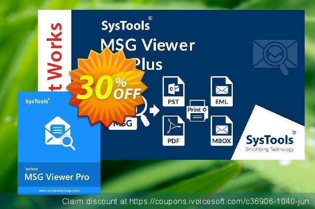 SysTools MSG Viewer Pro (100 Users)  대단하   매상  스크린 샷