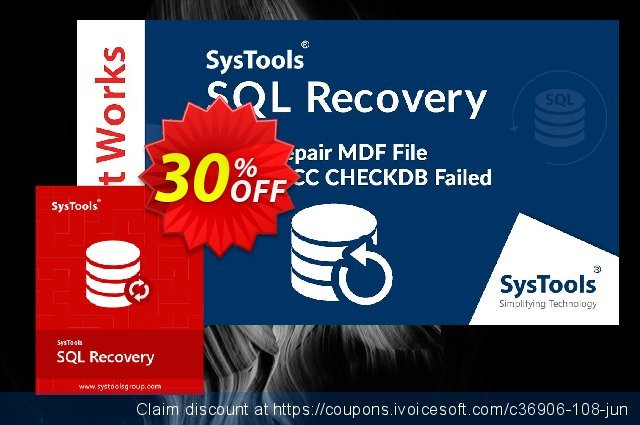 SysTools SQL Recovery - Corporate License  서늘해요   프로모션  스크린 샷