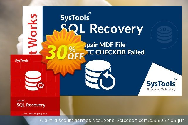 SysTools SQL Recovery - Enterprise License 令人敬畏的 促销 软件截图