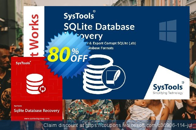 SysTools SQLite Database Recovery - Business License 惊人 产品销售 软件截图