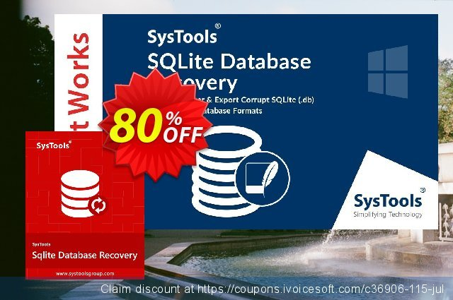 SysTools SQLite Database Recovery - Enterprise License 令人敬畏的 销售折让 软件截图
