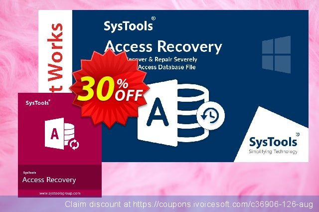 SysTools Access Recovery  (Business License) discount 30% OFF, 2020 Back to School promotion deals