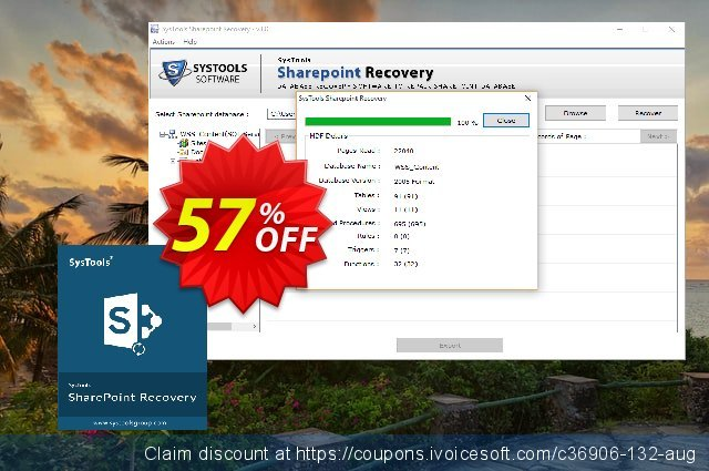 SysTools Sharepoint Recovery (Business) discount 50% OFF, 2020 Back to School shopping offering deals