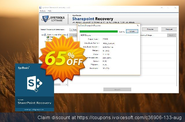 SysTools Sharepoint Recovery (Enterprise)  대단하   세일  스크린 샷