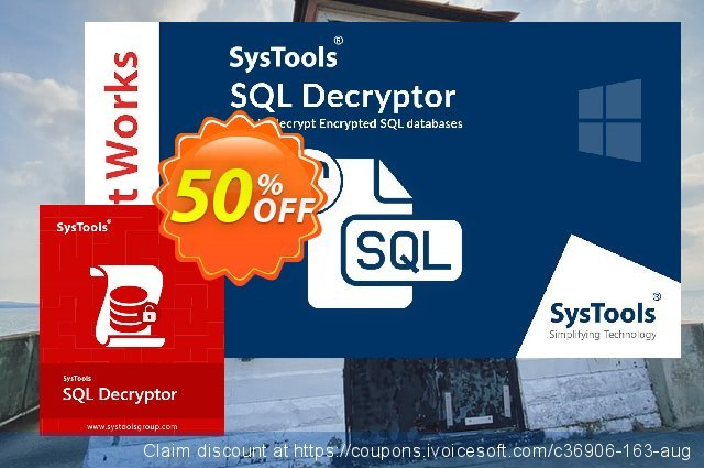 SysTools SQL Decryptor (Enterprise)可怕的扣头 软件截图