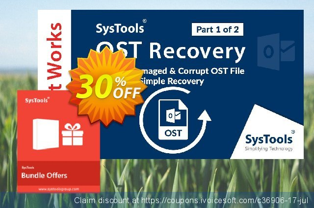 Bundle Offer: Systools OST Recovery + Outlook Recovery 令人敬畏的 优惠码 软件截图