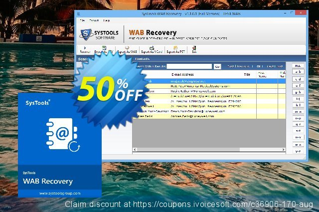 SysTools WAB Recovery (Enterprise) discount 30% OFF, 2020 Back to School event promo sales