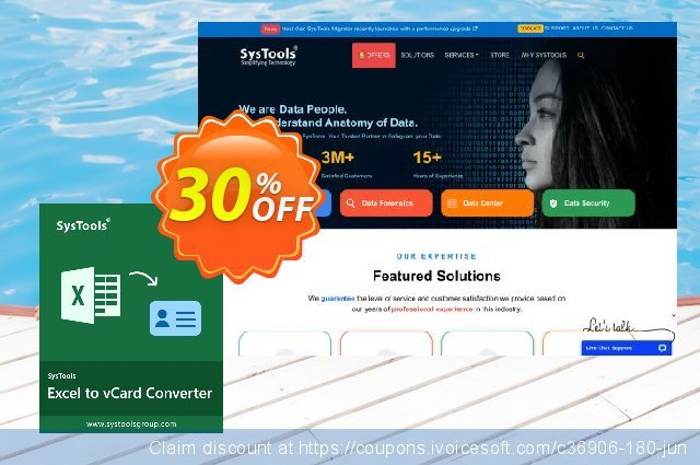 SysTools Excel to vCard Converter discount 30% OFF, 2020 Happy New Year offering sales