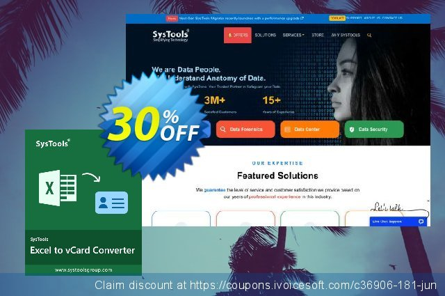 SysTools Excel to vCard (Business License) discount 30% OFF, 2020 Exclusive Teacher discount discounts