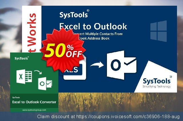 SysTools Excel to Outlook (Enterprise) 激动的 产品销售 软件截图