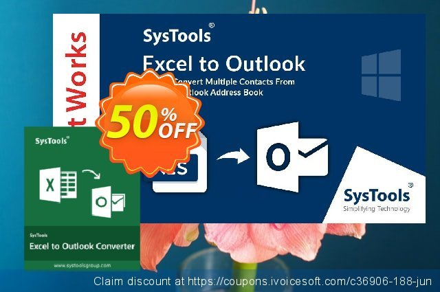 SysTools Excel to Outlook (Enterprise)  대단하   촉진  스크린 샷