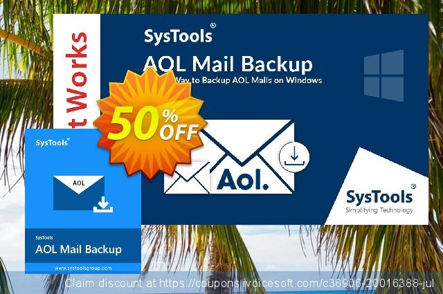 SysTools AOL Backup discount 50% OFF, 2020 Halloween offering sales