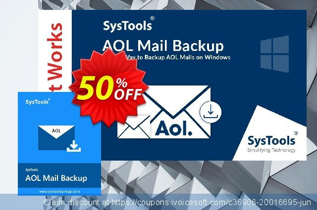 SysTools Mac AOL Backup discount 30% OFF, 2020 Halloween offering sales