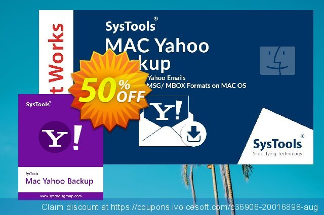 SysTools Yahoo Backup for MAC 惊人的 促销 软件截图
