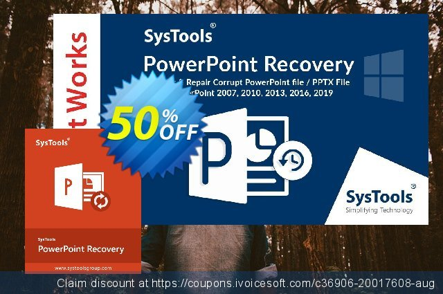 SysTools PowerPoint Recovery 可怕的 产品销售 软件截图