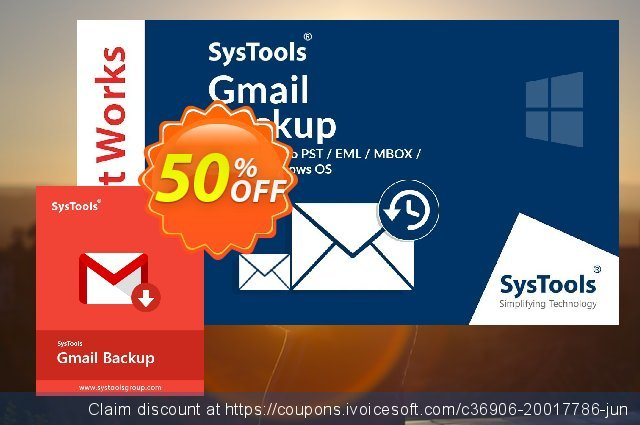 SysTools Mac Gmail Backup discount 20% OFF, 2020 New Year's Day offering sales