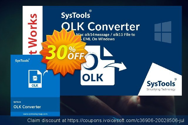 SysTools OLK Converter discount 30% OFF, 2020 Halloween offering sales