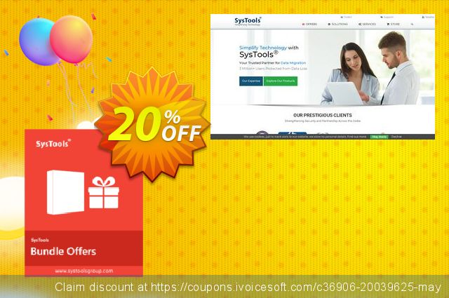 Bundle Offer - SysTools Hotmail Backup + Gmail Backup + Yahoo backup discount 20% OFF, 2020 American Independence Day offering sales
