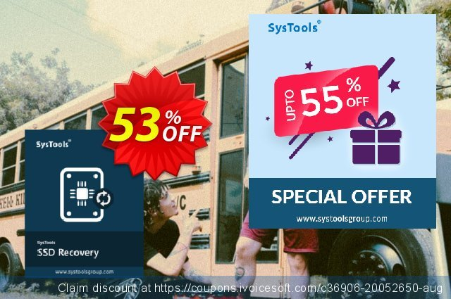 SysTools SSD Data Recovery discount 30% OFF, 2020 Back to School season discount