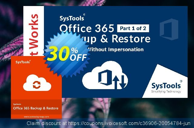 SysTools Office365 Backup & Restore discount 20% OFF, 2019 New Year's Day offering sales