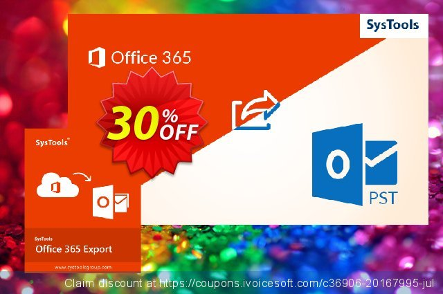 SysTools Office 365 Export discount 30% OFF, 2019 New Year's Day offer