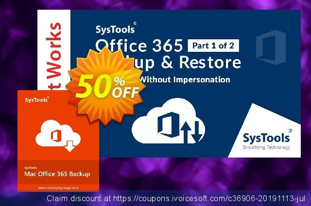 SysTools Mac Office 365 Backup discount 20% OFF, 2020 New Year's Day offering sales
