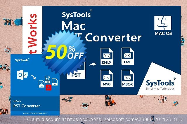 SysTools Mac PST Converter discount 30% OFF, 2020 University Student deals offering sales
