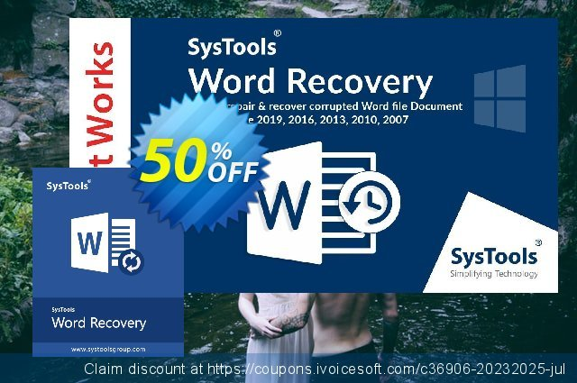 SysTools Word Recovery discount 30% OFF, 2020 Back to School promo promotions
