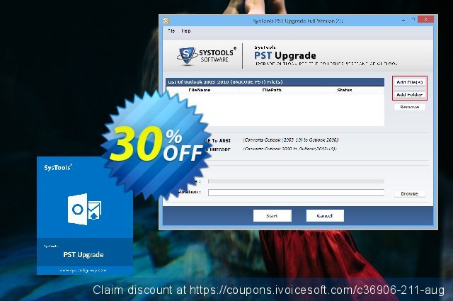 SysTools PST Upgrade (Business) discount 30% OFF, 2020 Halloween offering sales