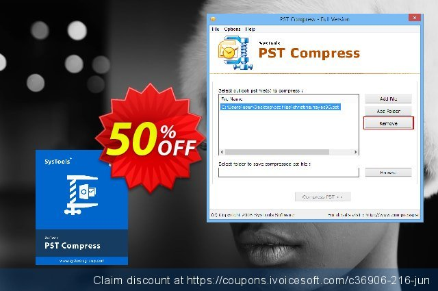 SysTools PST Compress discount 50% OFF, 2021 January promo sales