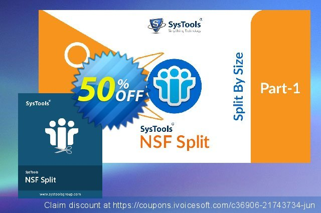 SysTools NSF Split discount 25% OFF, 2020 Working Day promo sales