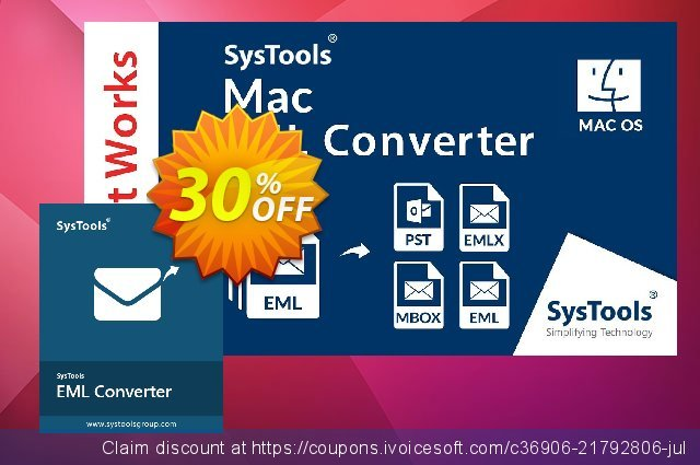 SysTools MAC EML Converter discount 30% OFF, 2020 Back to School Promos offering deals