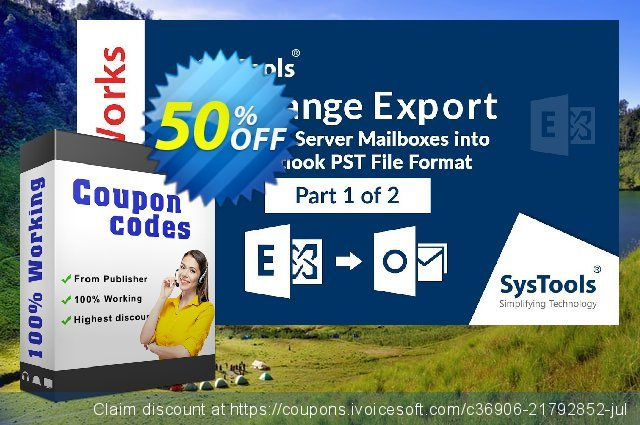 SysTools Exchange Mailbox Export 可怕的 促销销售 软件截图