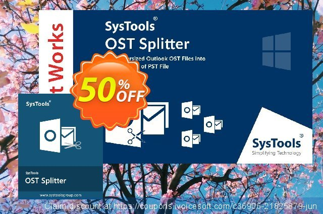 SysTools OST Splitter discount 30% OFF, 2020 College Student deals sales