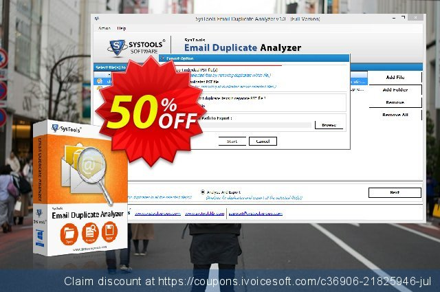 SysTools Email Duplicate Analyzer  놀라운   프로모션  스크린 샷