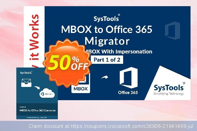 SysTools MBOX to Office 365 Migrator 惊人的 折扣 软件截图